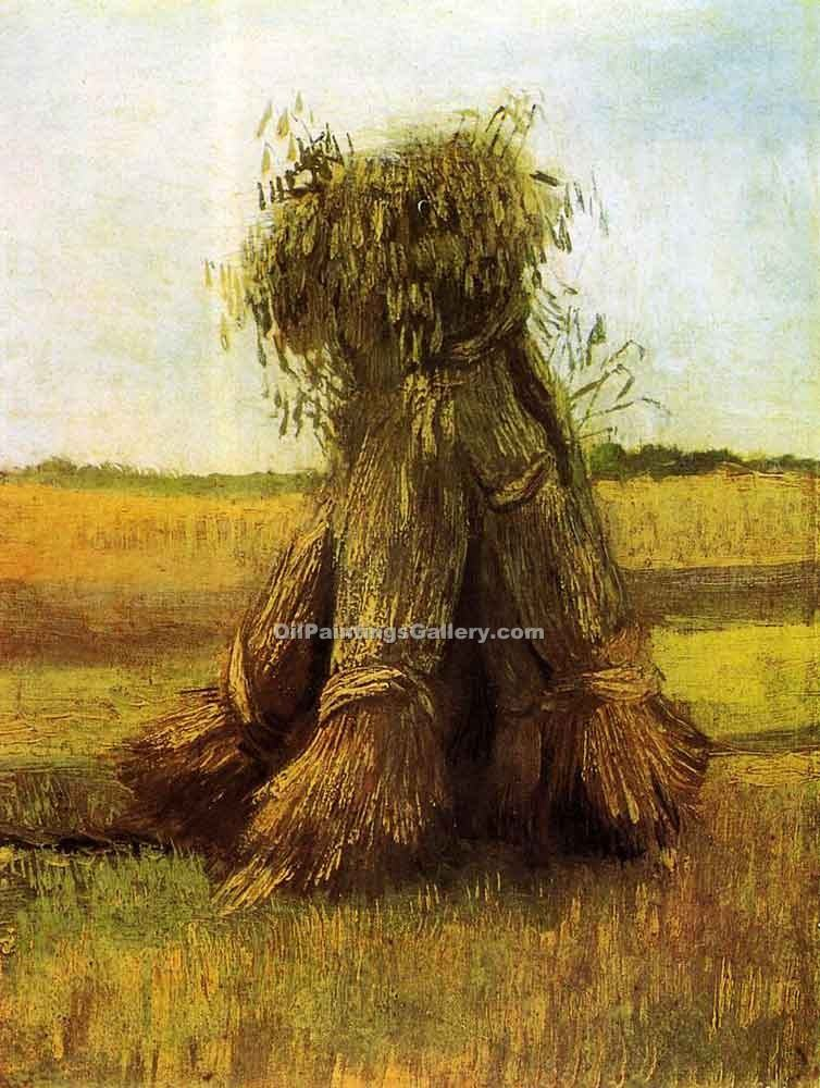 """Sheaves of Wheat in a Field"" by  Vincent Van Gogh"
