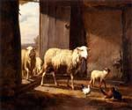 Sheep Returning from Pasture by  Eugene Joseph Verboeckhoven (Painting ID: AN-2129-KA)