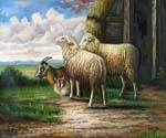 Sheep and Goats Oil Painting (ID: AN-1010-B)