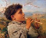 Shepherd Piper by  Sophie Gengembre Anderson (Painting ID: EI-0708-KA)