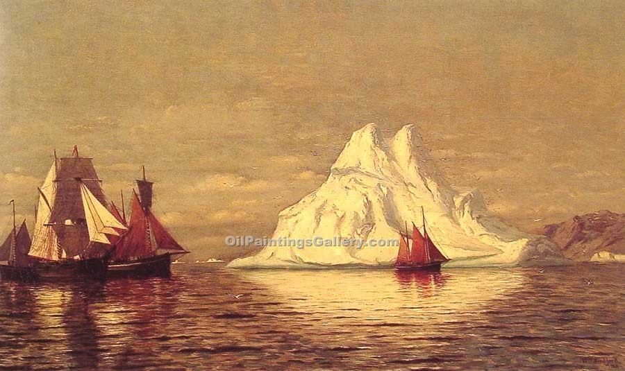 """Ships and Iceberg"" by  William Bradford"