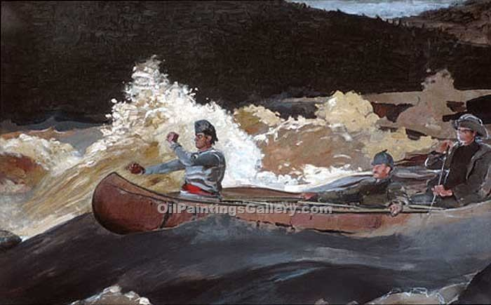 """Shooting_The_Rapids"" by  Winslow Homer"