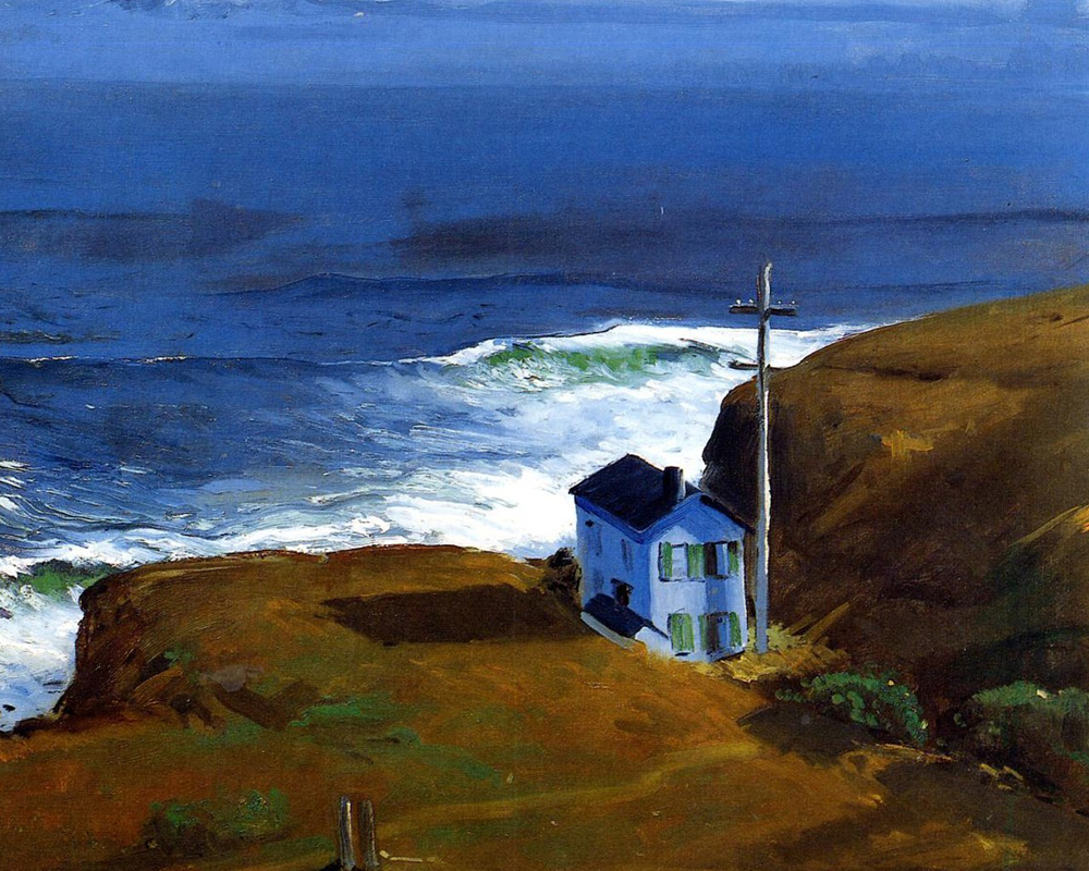 """Shore House 68"" by  George Bellows"