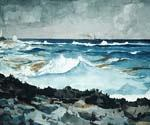Shore and Surf Nassau by  Winslow Homer (Painting ID: LA-1866-KA)