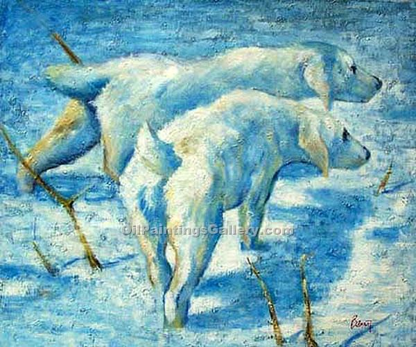 """Siberian Dogs in the Snow"" by  Franz Marc"