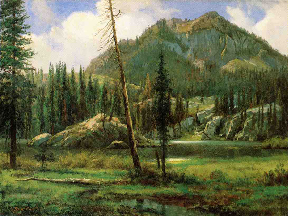 """Sierra Nevada Mountains"" by  Albert Bierstadt"