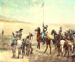 Signaling the Main Command by  Frederic Remington (Painting ID: GE-1907-KA)