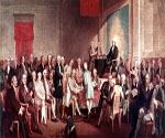Signing of Constitution by Thomas P. Rossiter  (Painting ID: CL-2501-KA)