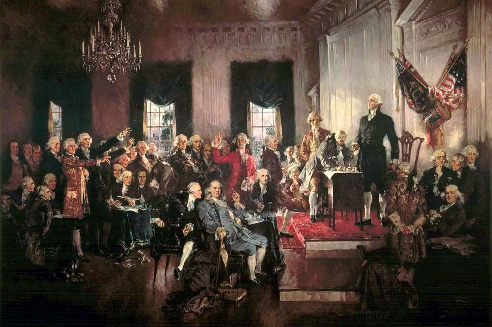 """Signing of the Constitution of the US by Howard Chandler Christy"""