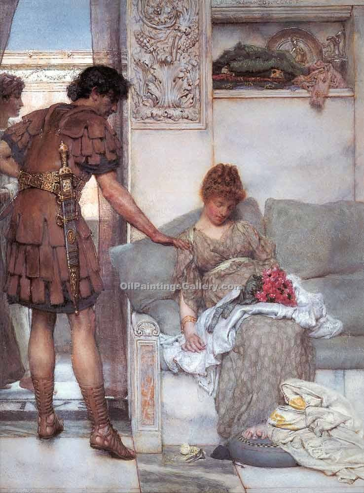 """Silent Greetings"" by  Sir Lawrence Alma Tadema"