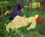 Silent Noon by  John Byam Liston Shaw (Painting ID: ED-0722-KA)