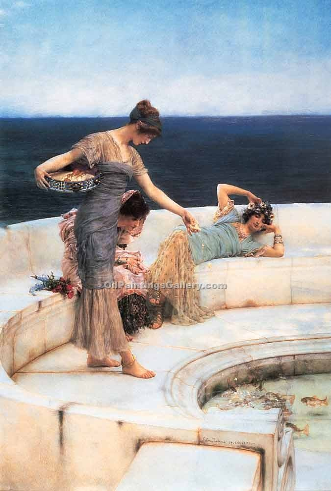 Silver Favorites by Sir LawrenceAlma Tadema | Best Place To Buy Paintings Online - Oil Paintings Gallery