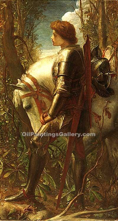 """Sir Galahad 79"" by  George Watts"