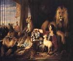 Sir Isaac Van Amburgh and His Animals by  Sir Edwin Henry Landseer (Painting ID: AN-1990-KA)