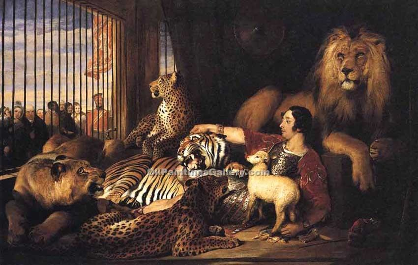 """Sir Isaac Van Amburgh and His Animals"" by  Sir Edwin Henry Landseer"