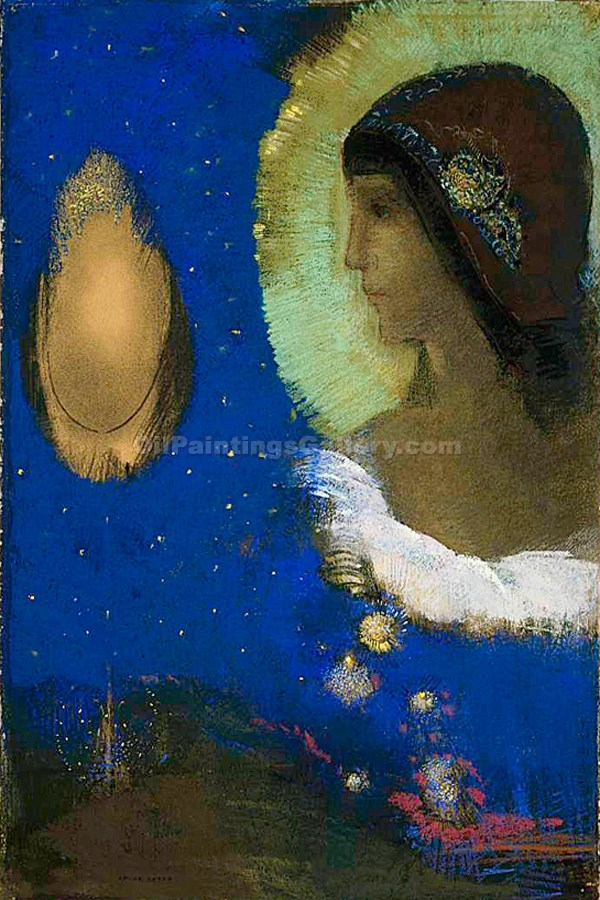 Sita by Redon Odilon | Hand Painted Oil Paintings - Oil Paintings Gallery