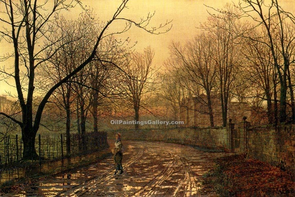 Sixty Years Ago By John Atkinson Grimshaw Painting Id La