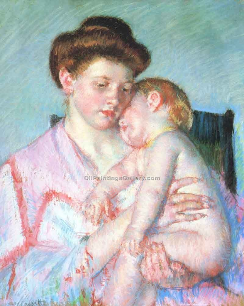"""Sleepy Baby"" by  Mary Cassatt"