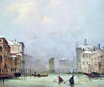 Snow and Fog in Venice by  Ippolito Caffi (Painting ID: CI-0315-KA)
