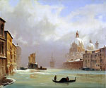 Snow and Fog on the Grand Canal by  Francois Cachoud (Painting ID: CI-0165-KA)