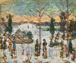 Snow in April by  Maurice Brazil Prendergast (Painting ID: CL-4632-KA)