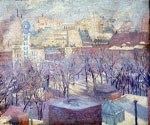 Snow in Madison Square by  Alan Tucker (Painting ID: CI-0045-KA)