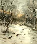 Snowy Garb of Sleeping Earth by  Joseph Farquharson (Painting ID: AN-1004-KA)