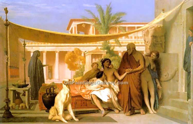"""Socrates seeking Alcibiades in the House of Aspasia"" by  Jean Leon Gerome"