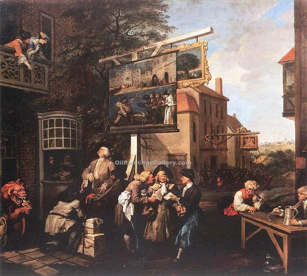 """Soliciting Votes"" by  William Hogarth"