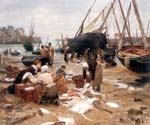 Sorting the Fish by  Victor Gabriel Gilbert (Painting ID: CM-1022-KA)