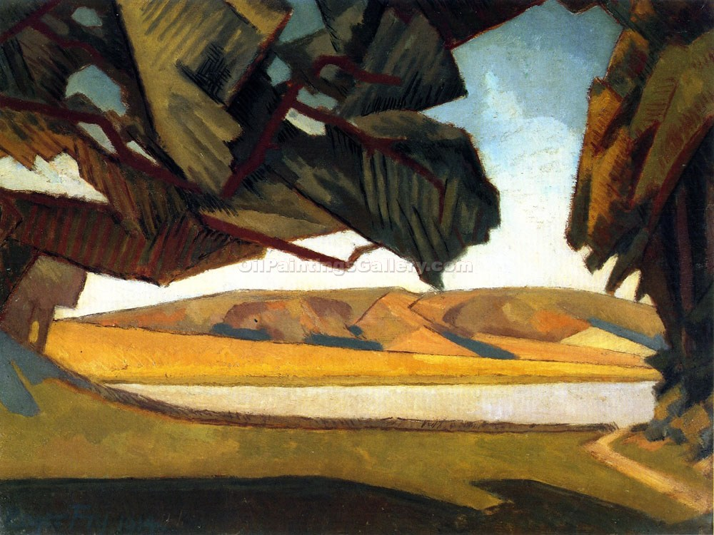 """South Downs"" by  Roger Eliot Fry"