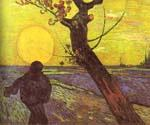 Sower with Setting Sun (After Millet) by  Vincent Van Gogh (Painting ID: VG-0144-KA)