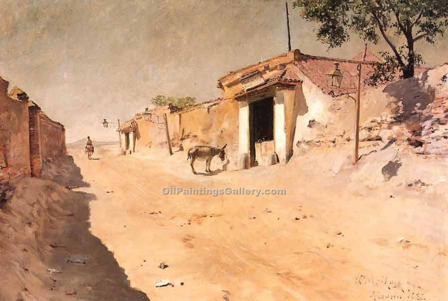 """Spanish Village 66"" by  William Merritt Chase"