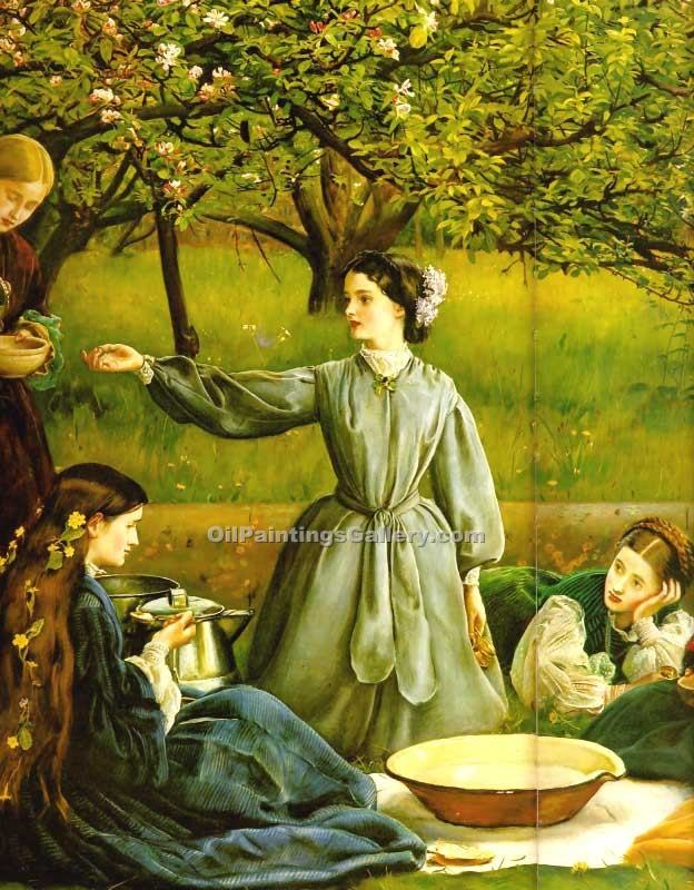 Spring (detail 1) by Millais John Everett | Paintings Online - Oil Paintings Gallery