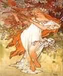 Spring 1896 by  Alphonse Maria Mucha (Painting ID: CL-2007-KA)