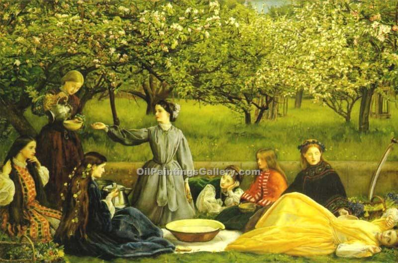 """Spring 30"" by  John Everett Millais"