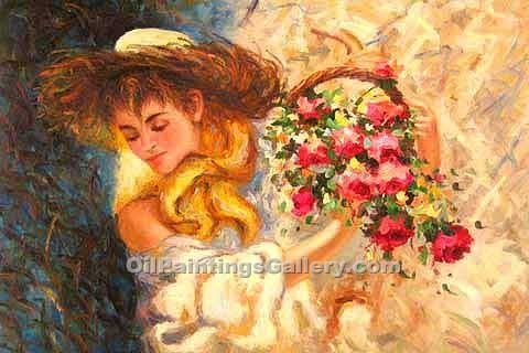 Buy Portrait of Famous People Oil Painting Online - Spring Bouquet