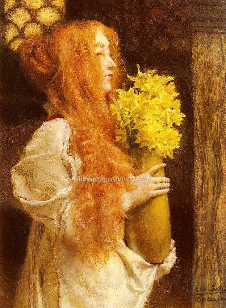 """Spring Flowers 63"" by  Sir Lawrence Alma Tadema"