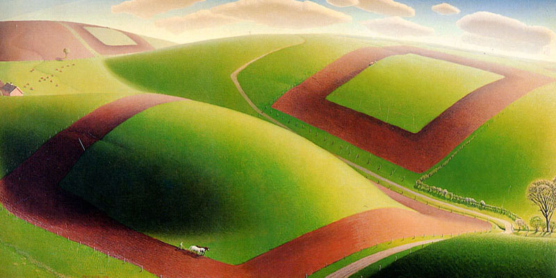 """Spring Turning"" by  Grant Wood"