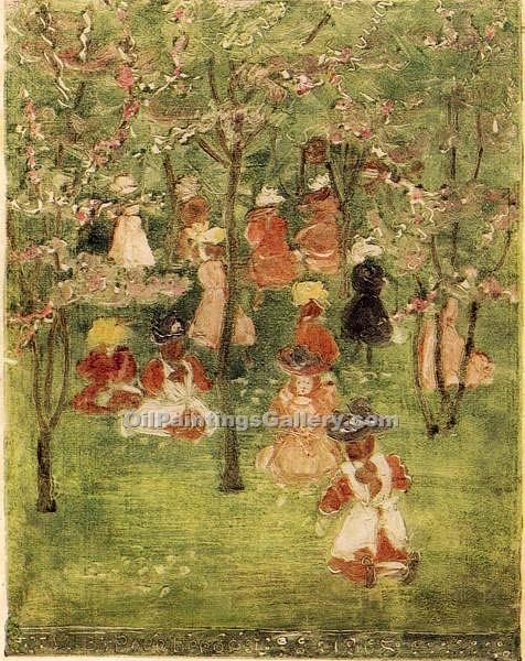 """Spring in Franklin Park, Boston"" by  Maurice Brazil Prendergast"