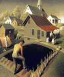 Spring in Town by  Grant Wood (Painting ID: LA-2842-KA)