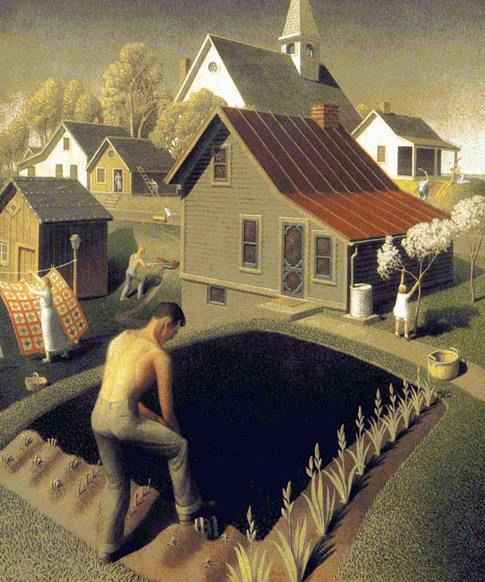 """Spring in Town"" by  Grant Wood"