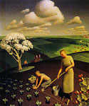 Spring in the Country by  Grant Wood (Painting ID: LA-2844-KA)