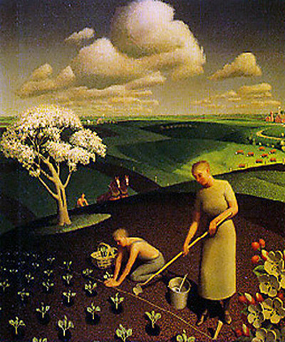 """Spring in the Country"" by  Grant Wood"