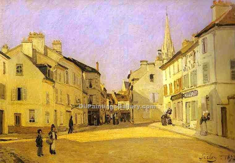 """Square in Argenteuil"" by  Alfred Sisley"