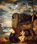St. Anthony Abbot and St. Paul the Hermit by  Diego Rodriguez de Silva Velazquez (Painting ID: DA-0194-KA)