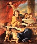 St Cecilia by  Nicolas Poussin (Painting ID: CM-1406-KA)