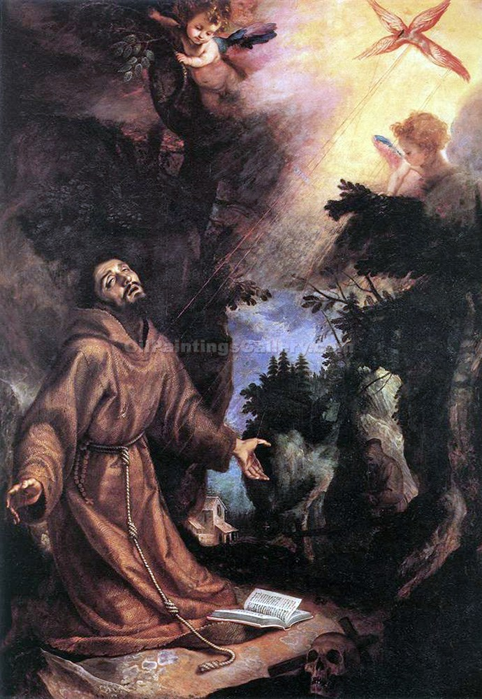 """St. Francis of Assisi Receiving Stigmata"" by  Lodovico Cardi Cigoli"