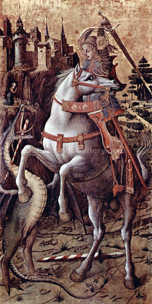 """St. George Slaying the Dragon"" by  Carlo Crivelli"