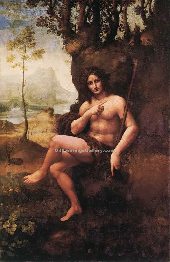 """St. John in the Wilderness (Bacchus)"" by  Leonardo Da Vinci"